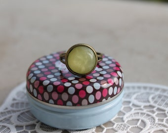 SPARKLY ring lime-lemon