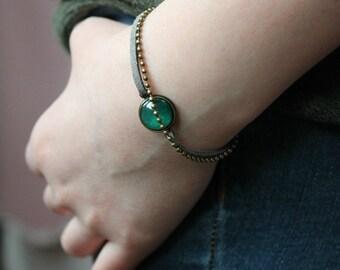 Emerald Green SPARKLY bracelet