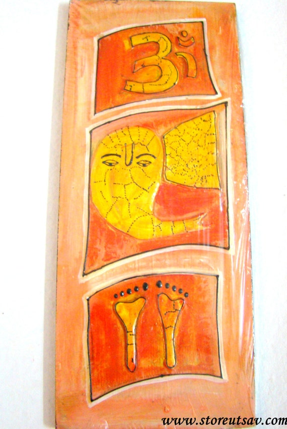 Home decor indian handicraft good luck mural lord by for Good luck home decor