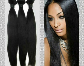 "10"" to 30"" Peruvian Virgin Human Hair Extensions Grade 8A Straight Hair - 100g per pack"