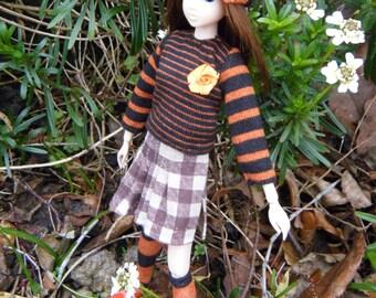 MOMOKO orange brown outfit set by Jing's Crafts