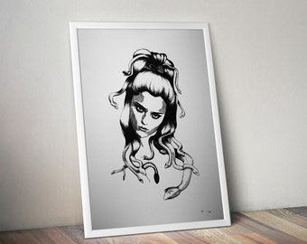 Limited edition silkscreen print Medusa #6