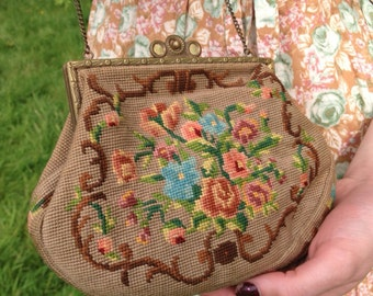 Gorgeous original 1920's tapestry handbag