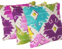 Pink Blue Green Cushion Cover Mexico Aztec Design Decorative Throw Pillow Case