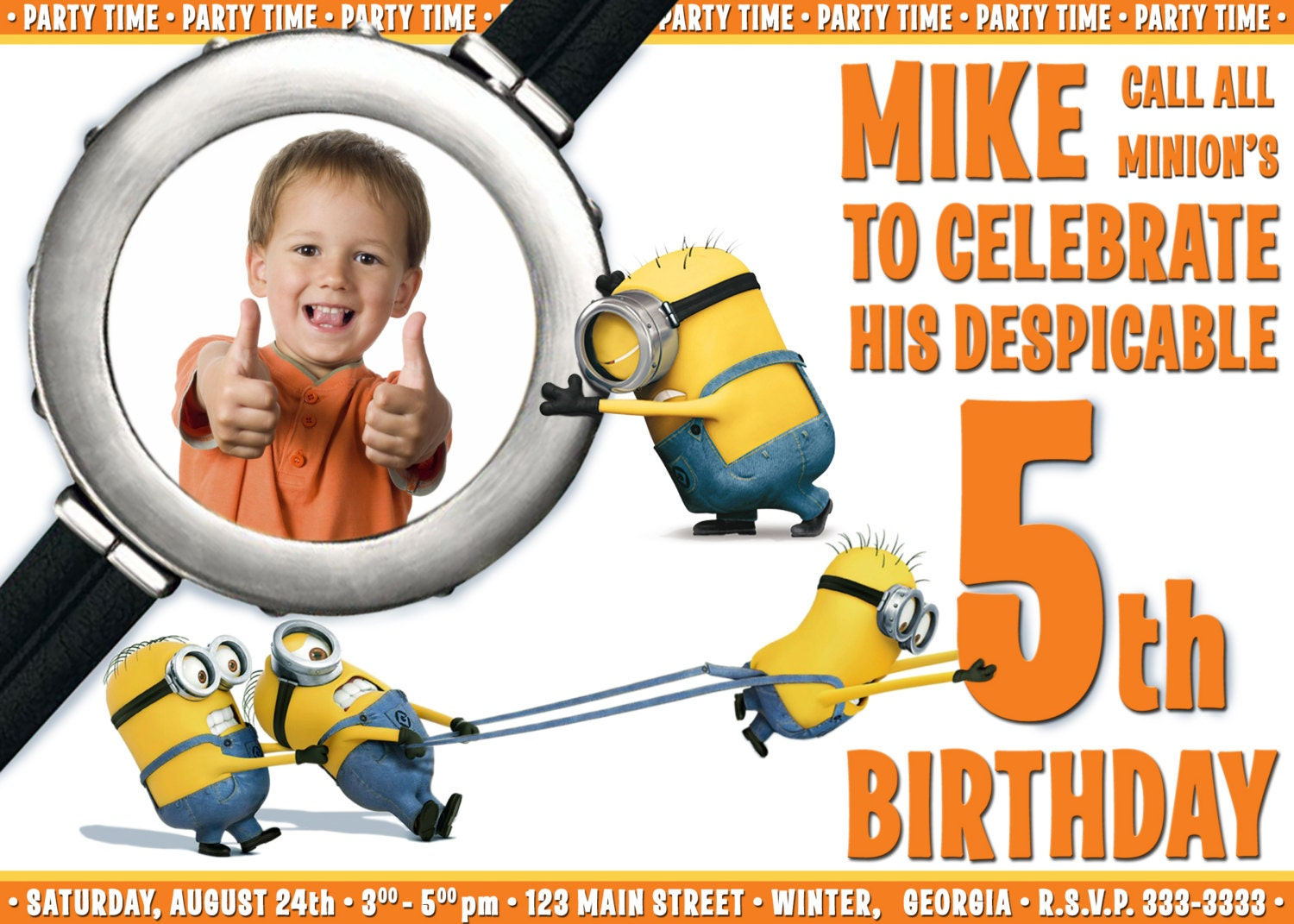 Despicable Me 1st Birthday Invitations - 2018 images & pictures ...