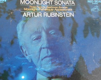 Artur Rubenstein - Moonlight Sonata : Three Favorite Beethoven Sonatas - vinyl record