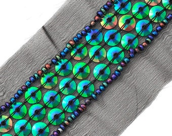 Sequin and Beaded Trim by 1 yard,  OSB-31101