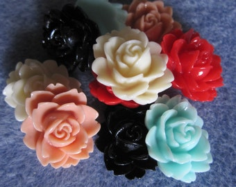 20 - Resin Flower Cabochons