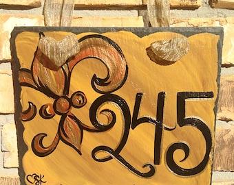 House Number Slate