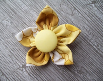 Handmade fabric flower hair clip