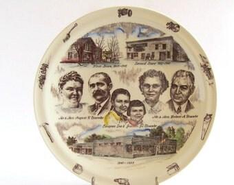 Vernon Kilns Plate 50th Ann. of Blumeke, Rosendale, Wisconsin