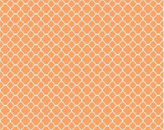 Peach quatrefoil craft  vinyl sheet - HTV or Adhesive Vinyl -  peach and white pattern vinyl HTV562