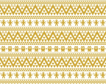Gold owl tribal pattern non-metallic craft  vinyl sheet - HTV or Adhesive Vinyl -  Aztec Peruvian pattern HTV329
