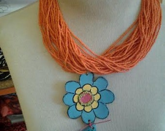 handmade clay pendant