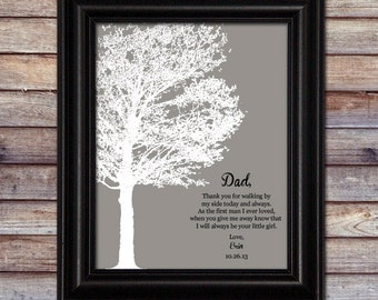 Wedding Thank You Gift for Dad - Father Wedding Gift - Wedding Gift for Dad - Personalized Sign - Wedding Sign