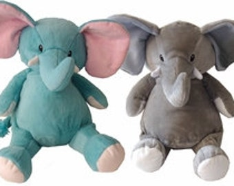 Personalized Stuffed Animal-Elephants (blue or gray)