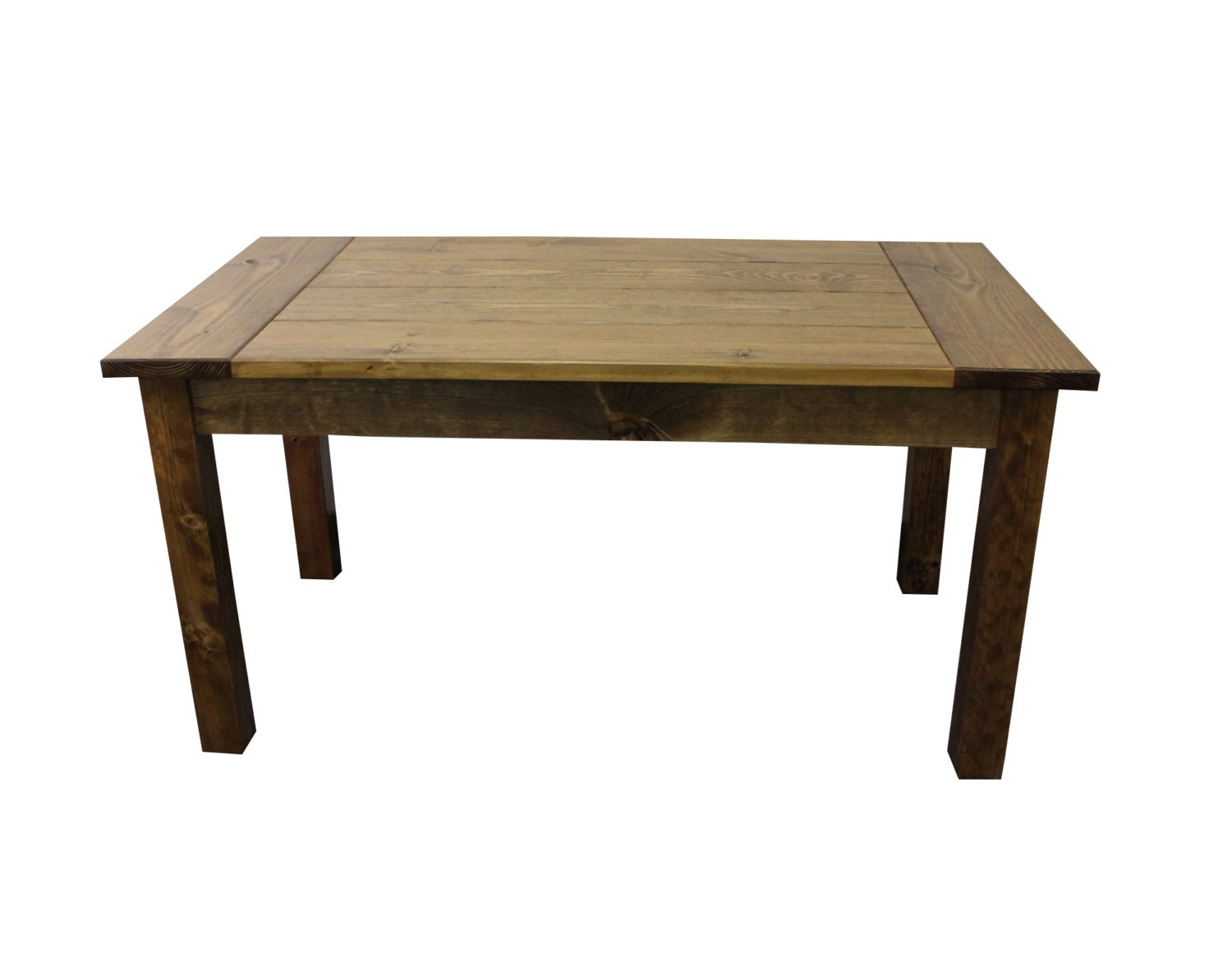 rustic hand crafted farmhouse harvest table