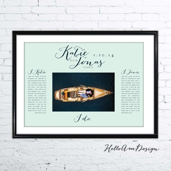 1st Wedding Anniversary Gifts For Men: 1st Anniversary Gift Anniversary Gifts For Men Custom Vows