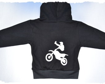 Motocross hooded jacket - hooded jacket - baby jacket - baby hoodie - moto hoodie - boys zip up - zip up hoodie