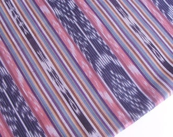 Ethnic fabric (#13) from Guatemala - Purple and pink fabric - 100% cotton - Handwoven Fabric by Yard - 1 Yard