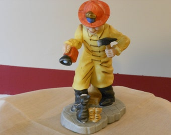 Lefton China Fireman Figurine