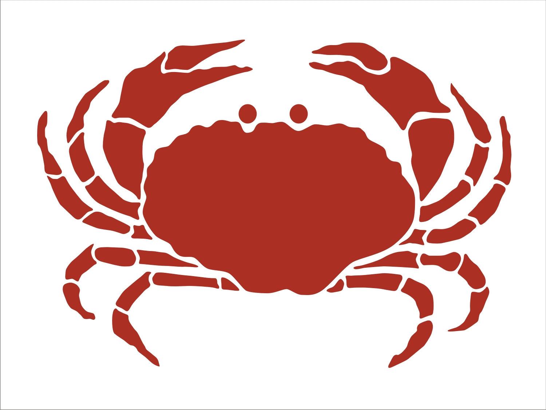 crab reusable stencils create beach signs stencil crab