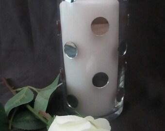 Vase/Candleholder- Large Round Mirror
