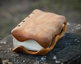 Cherrry handmade wooden journal / natural finish  / ready to ship