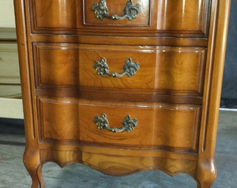 Vintage French Provincial Nightstand / Chest
