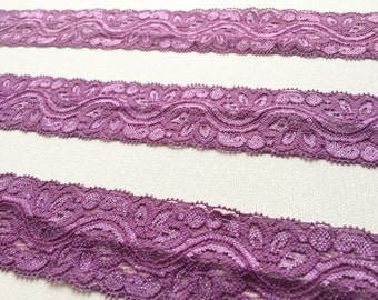 ELASTIC Purple Lace Trim