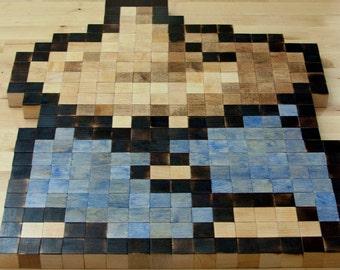 Black Mage 8-bit wall art