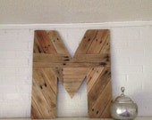 Wooden Letter M Custom Wood Monogram