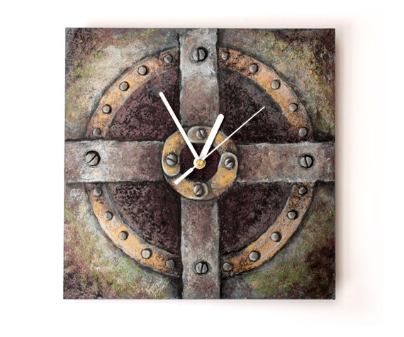 Steampunk Wall Clock Steampunk Home Decor Unique Gift By
