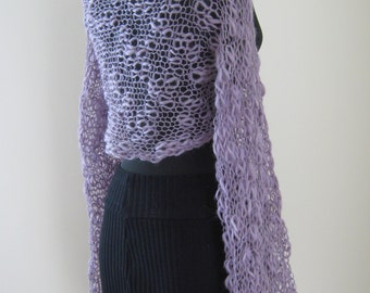 lilac ,shrug,bolero,long sleeve, soft,light,wedding,night..