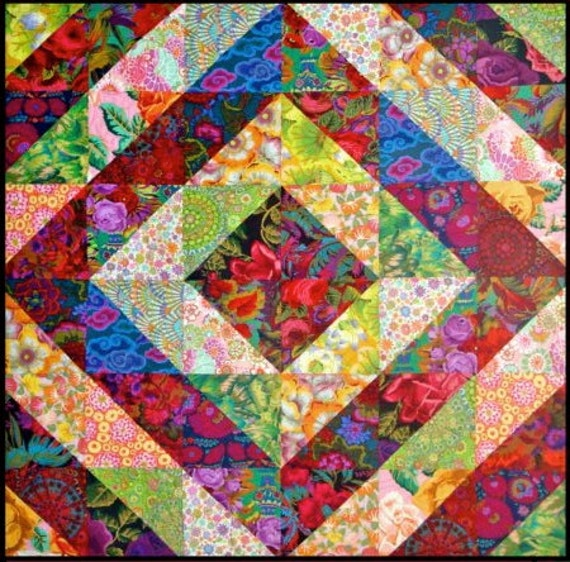 TOWER BRIDGE GARDEN Quilt Kit  - Kaffe Fassett  and Philip Jacobs fabrics