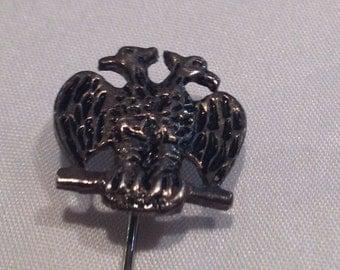 Vintage Double Headed Birds Hat Pin