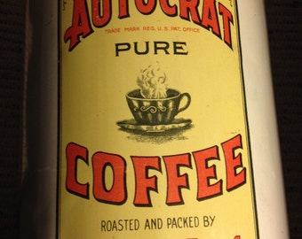 Vintage Autocrat coffee Large 3 Pound Can