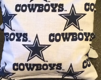 Dallas Cowboys cornhole bags, NFL Corn hole bags, Cowboys Cornhole Bags, Custom Cornhole bags, Backyard Games, Tailgate bean bags