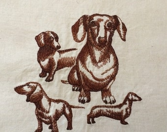 Dachshund ~ Dog Sketch Quilt Block
