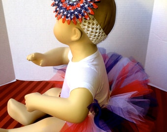 4th of July Half Tutu, Red White and Blue Tutu, July 4th Tutu, Infant Half Tutu, Toddler Tutu