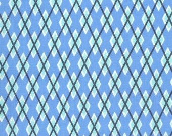 Blue Argyle Me, It's a Boy Thing, from Michael Miller Fabrics