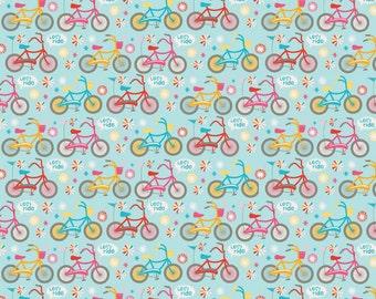 Blue Bikes, Girl Crazy, from Riley Blake Designs