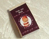RESERVED for YURI / Dollhouse miniature in 1/12 scale - Package of  Pound cake Mix