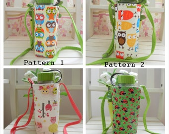 Fabric Water Bottle Pouch, Water Bottle Sling Bag