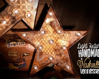 Marquee Star, Marquee Letter, Lighted Metal MARQUEE SIGN, Marquee sign, Marquee Light Fixture: Star Marquee