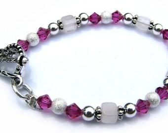 Fuschia Heart Children's Bracelet