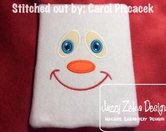 Snowman Face 3 Applique Design