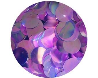 Sequin Paillettes 20mm flat round Violet Purple Crystal Rainbow Iris