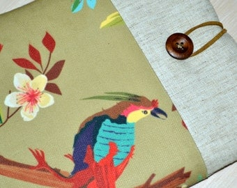 kindle fire cover case,  Kindle Sleeve, Kindle case, Nook Sleeve, Nook Case in  - Gadget Cases and Covers- cute Parrot