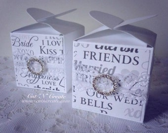 Lace Wedding Favors Lace Favours Lace Favor Boxes White Wedding Favors White Lace Favor Boxes